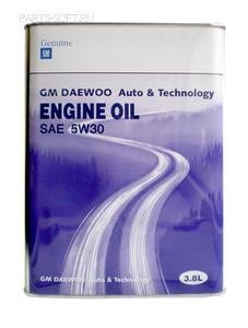 GM DAEWOO ENGINE OIL / Моторное масло, 4 л.